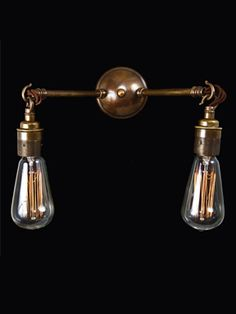Vintage double wall light, Vintage wall light - Holloways of Ludlow