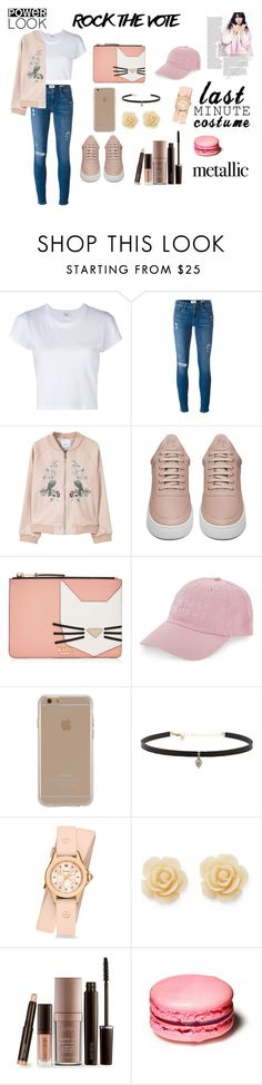 """Rock the Vote"" by xollophany on Polyvore featuring RE/DONE, Frame Denim, MANGO, Filling Pieces, Karl Lagerfeld, Nasaseasons, Agent 18, Carbon & Hyde, Michele and Draper James"