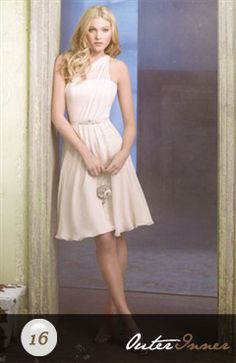 A-Line One Shoulder Sleeveless Bridesmaid Dress Style Code: 02610