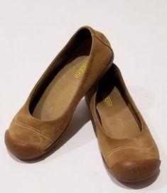 59060b0e3157e Keen Sienna Tan Suede Slip On Loafer Ballet Flat Shoes Women's Size 7