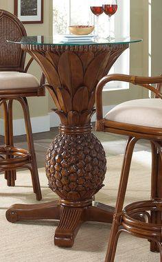 Havana Palm Pineapple Pub Table