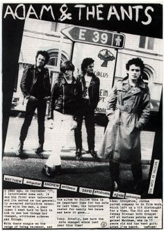 Adam & The Ants Ant Music, Rock Band Posters, Adam Ant, The Kinks, Star Wars, Tour Posters, The New Wave, My Prince Charming, People Like