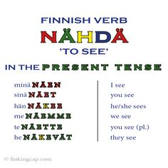 "'Nähdä' is one of the rare exceptions in Finnish verbs. It is verb type 2 but it doesn't quite follow the ""rule"". If you want to learn the Finnish verb types, check out my online course where I explain them all in detail - a great way to make sure you have a good base for learning more complicated verb structures!"
