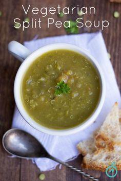 Vegetarian Split Pea Soup from @SimplyQuinoa gluten free, vegan