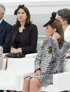 Catherine Duchess of Cambridge with Rebecca Deacon The youngest of three sisters, Rebecca, known as Becca to her friends, was raised by her mother Selina after her father Michael, an army major passed away in 1986 when she was just three. After working as a house mother at Port Regis prep school in Dorset, her mother was ordained as a priest and is now a vicar at St John's, in the small Wiltshire Parish of Upper Studley. In 2007 she presided over her daughter Hannah's wedding.