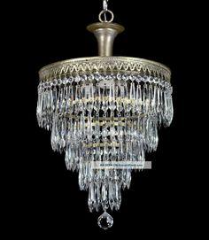 Antique Crystal Wedding Cake Chandelier Benson S Bottega Lo - - Photos of Net Vintage Crystal Chandelier, Chandeliers, Chandelier For Sale, Art Deco Chandelier, Antique Chandelier, Pendant Chandelier, Modern Chandelier, Chandelier Ideas, Art Nouveau