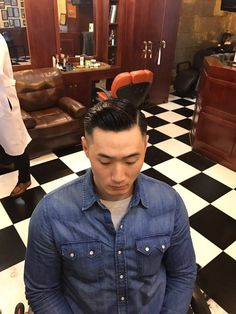 Great Haircuts, Men's Haircuts, Haircuts For Men, Slicked Hair, Slick Hairstyles, Le Male, Male Style, Asian Men, Style Ideas