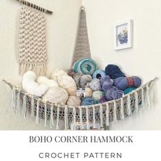 New Free Yarn storage corner Popular Boho Corner Hammock – Digital PDF Crochet Pattern – Yarn, Stuffed Animal, Toy, Plushie Storage, Stuffed Animal Hammock, Stuffed Animal Storage, Diy Stuffed Animals, Yarn Storage, Diy Storage, Hanging Storage, Diy Hanging, Storage Ideas, Crochet Hammock
