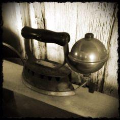 Yesteryear's steam iron.
