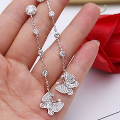 Silver Ring With Diamond Product Fancy Jewellery, Fancy Earrings, Jewelry Design Earrings, Gold Earrings Designs, Ear Jewelry, Stylish Jewelry, Cute Jewelry, Fashion Earrings, Jewelery