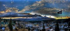 panorama view of Truckee, CA by Sam Okamoto www.tahoesierraphotos.com