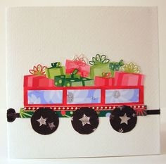 Train accordion card - PAPER CRAFTS, SCRAPBOOKING & ATCs (ARTIST TRADING CARDS)