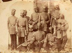 Loyal Native Officers taken at Umballa (Ambala) - - Old Indian Photos Colonial India, British Colonial, Jaisalmer, Udaipur, Indian Army, Native Indian, Indiana, Uk History, British Army