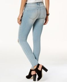 William Rast Cropped Skinny Jeans - White 32