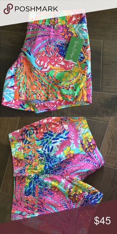 Lilly Pulitzer BNWT Callahan Shorts BNWT Callahan Shorts, pattern is Fishing for Compliments. Size 6. Lilly Pulitzer Shorts