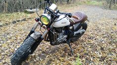 Suzuki DR650, handcrafted by Healmoto, Moscow, Russia.