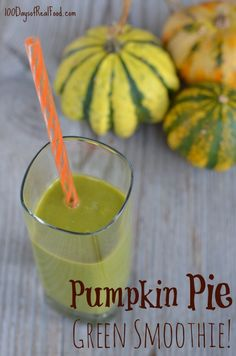 If you (or your kids) are getting tired of the same old snacks I've got the perfect solution to switch things up ...A Pumpkin Pie Green Smoothie! The kick