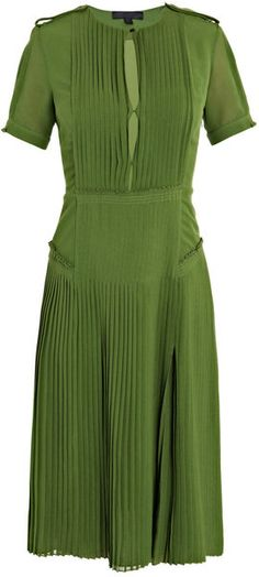 Hello perfect green dress. Sigh. (photo courtesy burberry)