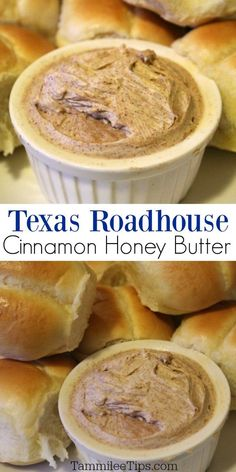 How to make copy cat Texas Roadhouse Butter at home! How to make copy cat Texas Roadhouse Butter at home! Easy copy cat Texas Roadhouse cinnamon honey butter you can make at home. This copycat recipe only takes a few ingredients and tastes amazing. Asian Food Recipes, Cooking Recipes, Honey Recipes, Easy Recipes, Recipe With Honey, Whipped Honey Butter Recipe, Simple Food Recipes, Honey Butter Biscuits, Recipes With Yeast
