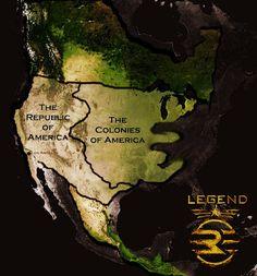 The Republic and Colonies of America, gezeichnet von ~TallJake44