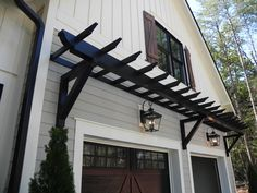 trellis over garage door garage trellis over garage door images ideas the staggering trellis over pergola over garage door kits Garage Trellis, Garage Pergola, Outdoor Pergola, Aluminum Garage, Aluminum Pergola, Metal Pergola, Wooden Pergola, Metal Roof, Cabana