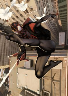 Miles Morales, Ultimate Spider-Man - wingwingwingwing.deviantart.com