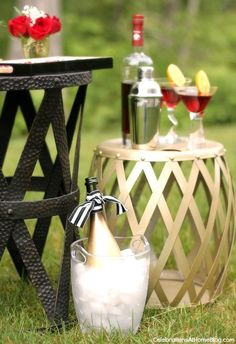 Host a summer soiree with these tips and ideas. Champagne is always a good thing.