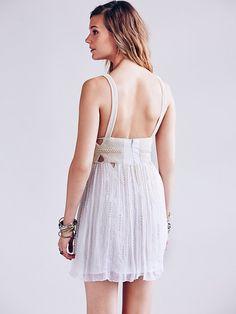 Free People Pearl Cut Out Mini Dress, $415.00
