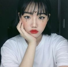 Cute makeup - My most beautiful makeup list Edgy Makeup, Grunge Makeup, Unique Makeup, Creative Makeup, Beauty Makeup, Hair Makeup, Hair Beauty, Asian Makeup Before And After, Ulzzang Makeup