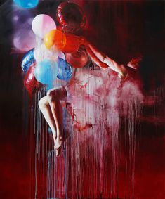 Painting Balloon - Chloe Early #painting #art #canvas