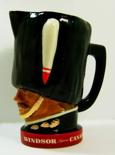 Vintage Windsor Supreme Canadian Whiskey Advertising liquor Pitcher 8 Inches