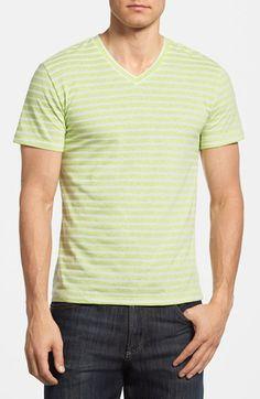 The Rail Feeder Stripe V-Neck T-Shirt (2 for $30) available at #Nordstrom
