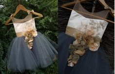 SOFIA Graphite Champagne Gold Lace Tulle Flower Girl Dress