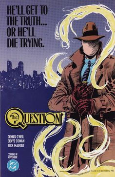 the question dc comics - Yahoo Image Search Results, Dennis O'Neill, Denys Cowan, great comics series - Visit to grab an amazing super hero shirt now on sale! Comic Book Covers, Comic Book Heroes, Comic Books Art, Comic Art, Arte Dc Comics, Old Comics, Dr Fate, Free Comics, Dc Characters