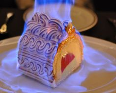 Baked Alaska on fire! Just Add Fire: 8 Recipe Ideas Sure To Go Up In Flames - tricks and tips on using fire. Flambe Desserts, Köstliche Desserts, Plated Desserts, Baked Alaska Recipe, Cake Recipes, Dessert Recipes, Dip Recipes, Chocolates, Dessert Dips