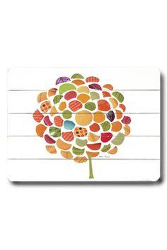 Citrus Zinnia Distressed Wood Wall Plaque