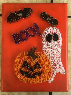 Halloween string art by Trishley on Etsy