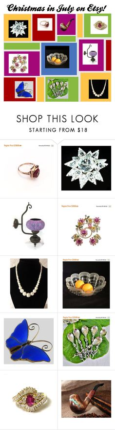 """""""Christmas in July on Etsy!"""" by anna-ragland ❤ liked on Polyvore featuring vintage"""