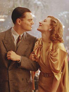 Leonardo DiCaprio & Cate Blanchett as Howard Hughes & Katharine Hepburn in The Aviator (2004) costumes designed by Sandy Powell