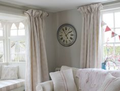Happy Customer using our Antique Powder Pink Mini Roses, and Dove Broadstripe as a window Seat.