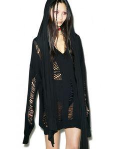 Widow Drop Needle Oversized Sweater | Dolls Kill