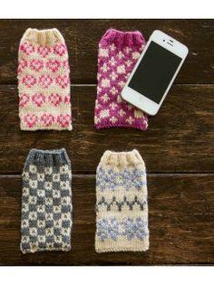 Faeroe Phonecovers Pattern; Eline Oftedal; Interweave Knits Gifts   InterweaveStore.com