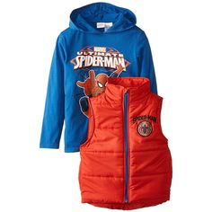 Marvel Boys' Spider-Man Vest and Hoodie Set