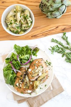 3 SP Chicken Thighs with Artichoke Hearts and Feta Cheese is made with just a few ingredients and is ready in less than 30 minutes! Healthy Recipes, Skinny Recipes, New Recipes, Whole Food Recipes, Cooking Recipes, Skinny Meals, Dinner Recipes, Favorite Recipes, Healthy Meals
