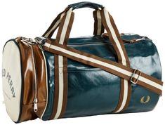 Fred Perry Men's Classic Barrel Bag, Petrol Blue, « Impulse Clothes