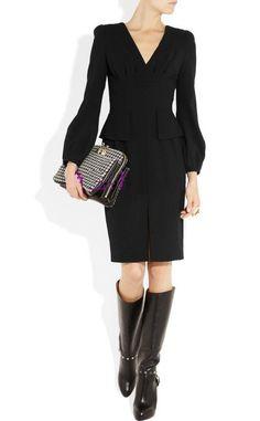 Office Ladies Commute Black Formal Career Work Pencil Dresses. Full sleeves Tailored Dress V-neck Knee length IR058 on AliExpress.com. $45.50
