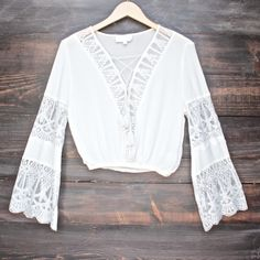pleased to meet you bell sleeve peasant top