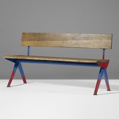 Bench by Jean Prouve for electricitedefrance 1954