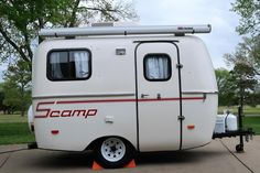 2011 Scamp 13 foot with bath - $15,000 - Columbia, TN | Fiberglass RV's For Sale Shelving Over Bed, Wire Shelving, Small Campers For Sale, Rvs For Sale, Travel Trailers For Sale, Rv Trailers, 20 Lb Propane Tank, 12 Volt Led, Brown Cushions