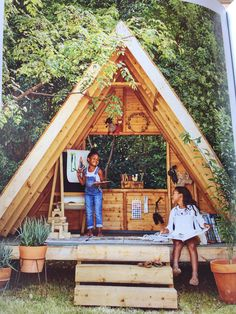 I had a similar, raised rectangular shelter (originally for firewood) that my kids loved to climb on and stomp around on. This is a step up but a wonderful idea and more practical for rainy weather. Kids Outdoor Play, Outdoor Play Areas, Kids Play Area, Backyard For Kids, Outdoor Fun, Kids Outdoor Spaces, Kids Yard, Outdoor Games, Backyard Play Areas